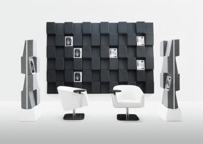 Abstracta Window Ljudabsorberande tidningsställ