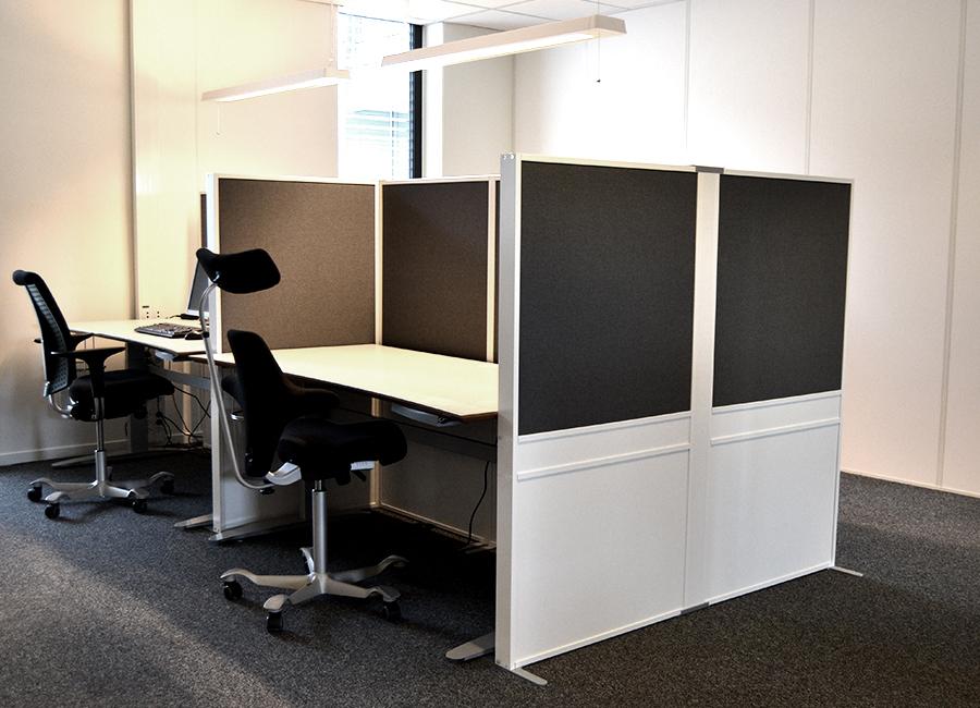 Zilenzio Offizz kontorsskärmlösning i delat arbetsrum