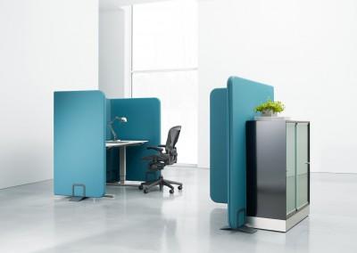 Sline Clip  kontorsskärm i modernt kontor