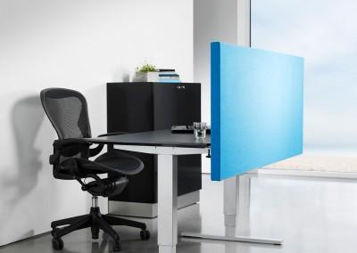 Sline-Skrivbordsskärm-blå