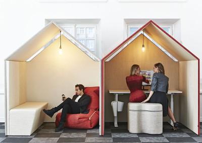 Tyst rum i kontorslandskap The Hut Götessons
